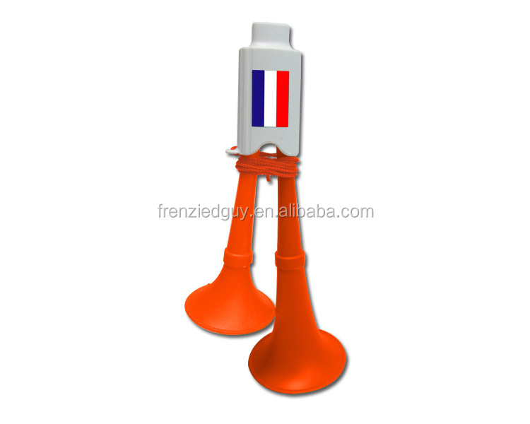 Cheering france fan plastic french horn