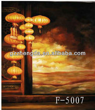 Customized Made-in-China Festival Celebration Chinese Lantern View Design Photo Backdrops