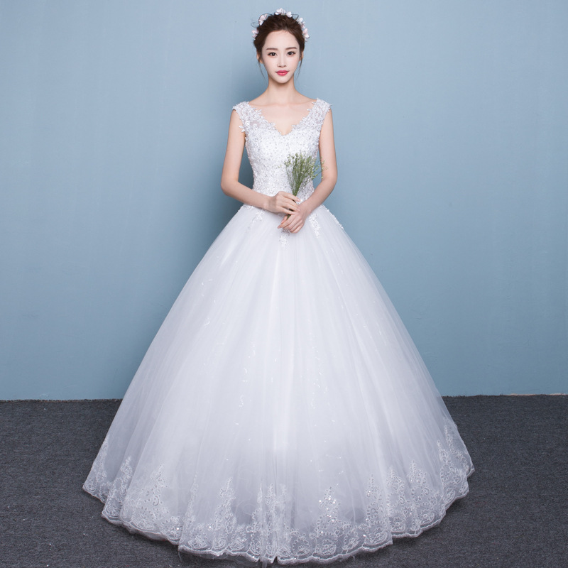 2017 new white women guangzhou wedding dress sale HB1080