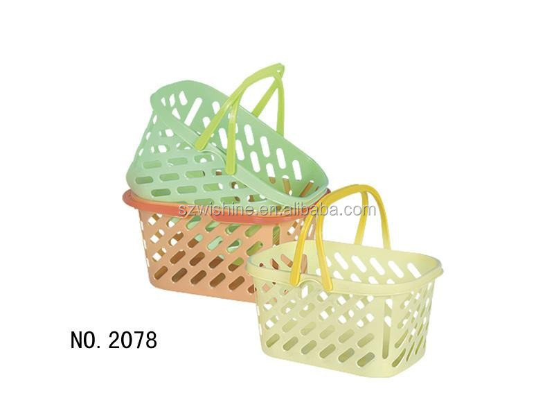 high quality cheap price small plastic vegetable baskets/plastic gift baskets/plastic collapsible plastic basket