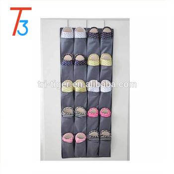 24 Pocket Over The Door Hanging Shoe Rack Organizer Storage Clothes Wall  Hanger