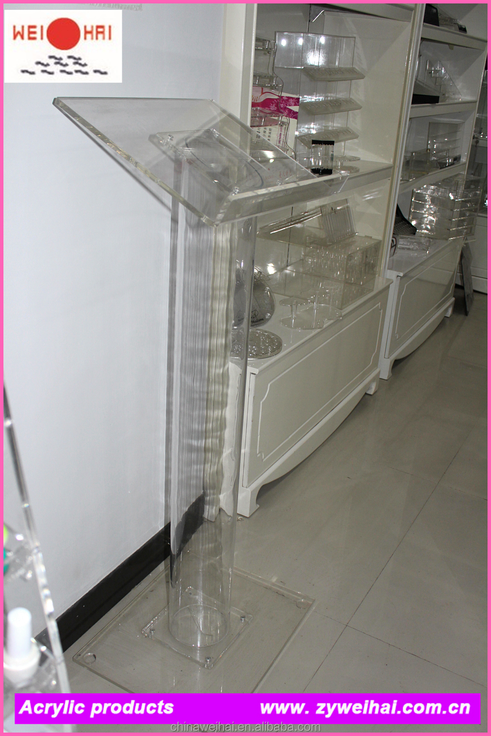 Modern Acrylic Church Pulpit Design With Stainless Base,Church ...