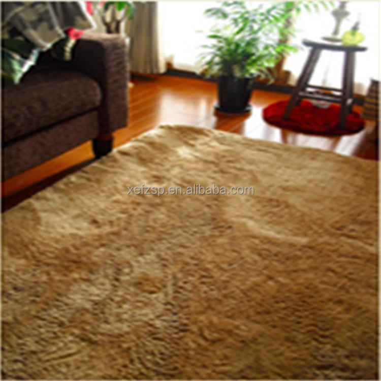 machine textile living room microfiber silk round baby rug