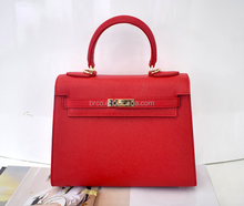 classic modern office lady good quality genuine leather hand bag stocklot fashion branded shoulder bag