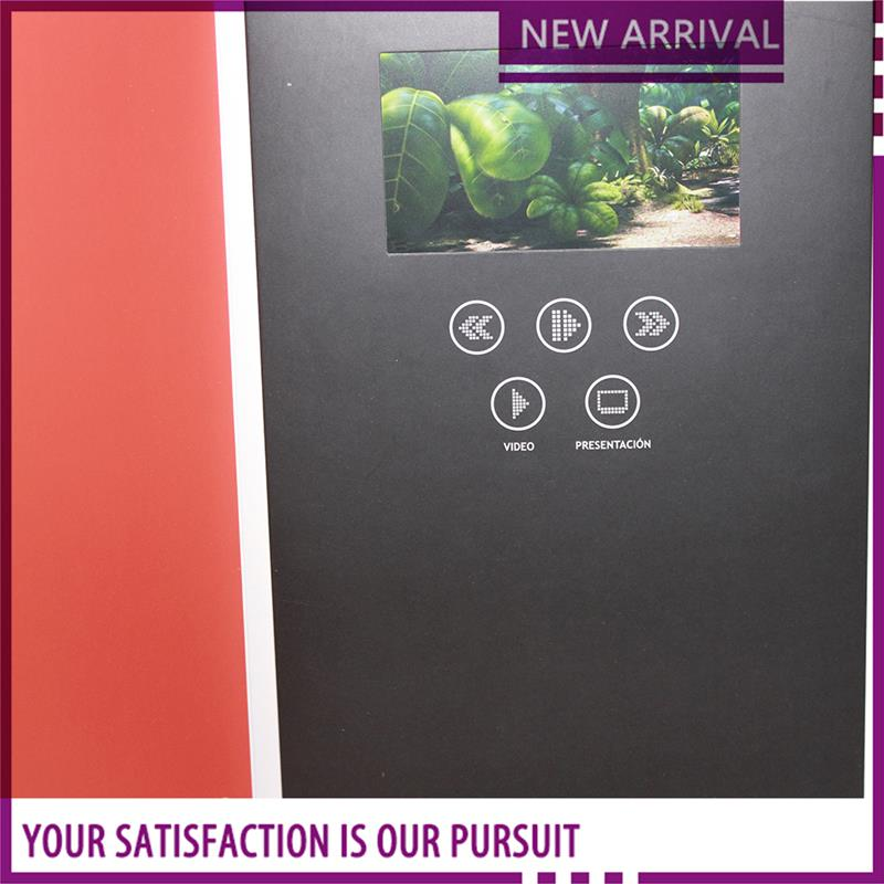 5 inch screen advertising video player videovideo brochure for new priduct launching brochure with tft screen