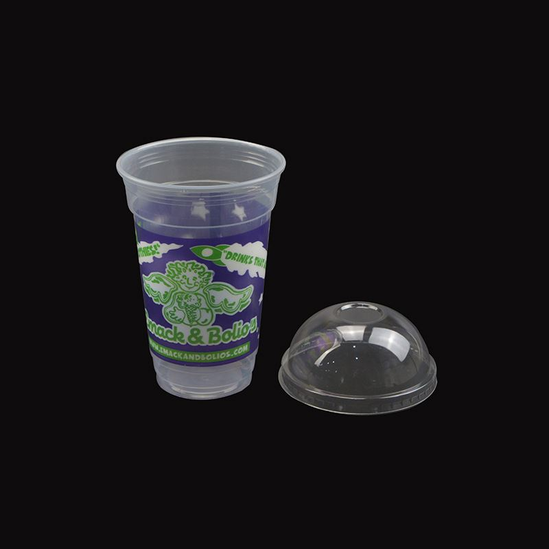 Top quality good price large plastic cup with straw