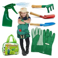 Kids garden apron toy set,children outdoor toys,dress up clothes for role play game
