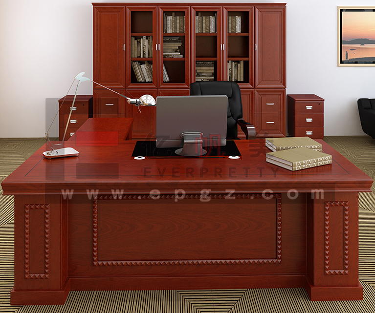 Modern Generous Principal Office Desk With Side Table For Office Executive  Table