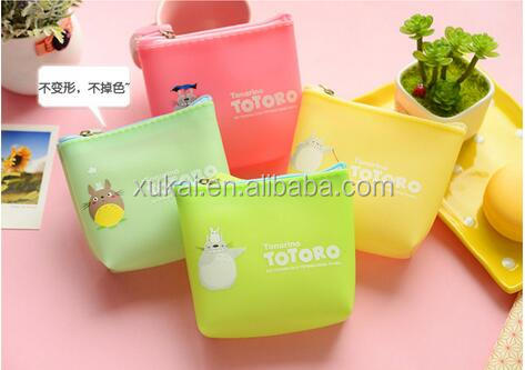 cute funny kids animal shape rubber silicone coin purse