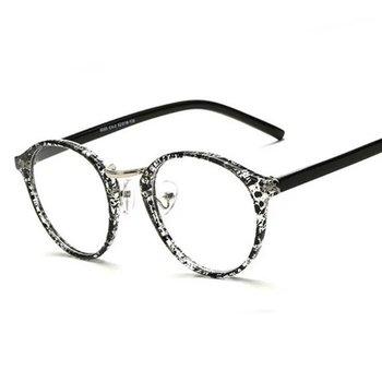 B-066 Fashion Round Eyeglasses Frames Brand Designer Men Black ...