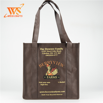 laminated sewing non woven  pattern bottle bag