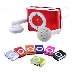 Portable custom Mini Clip Players Sport Music MP3 Player Without Screen support song download
