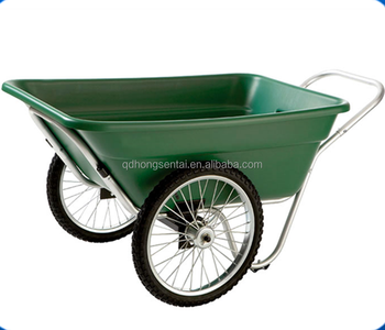 Plastic Garden Way Cart With Two Wheels