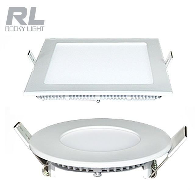 CE ROHS approved 3w 6w 12w 18W ultra thin Recessed Led panel light lamp panel light