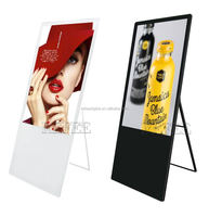 43 inch portable fold able camera and motion sensor advertising digital signage