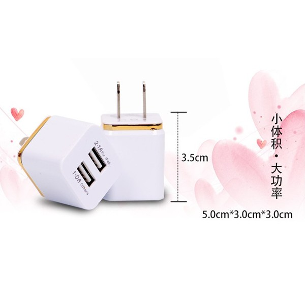2 Port All In One Dual USB Wall Charger 5V 2.1A