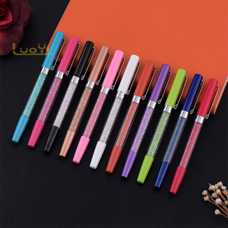 2018 quality rose gold color white diamond crystal metal crystal pen/metal ball pen for <strong>promotion</strong> product