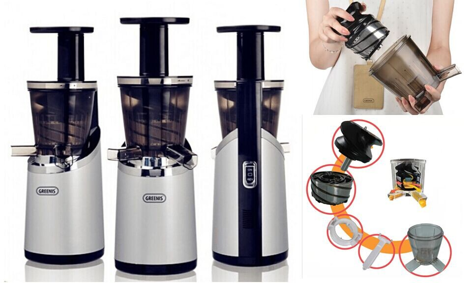 2017 korea greenis slow juicer unique squeezing system speed electric motors pomegranate best fruit