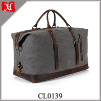 Wholesale Oversized Weekender Overnight Duffel Bag Canvas Leather Carry on Duffel Travel Toiletry Bag