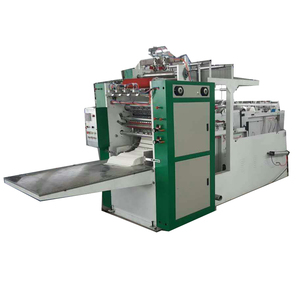 Factory Direct Selling 2 Line V Fold Box Drawing Facial Tissue Paper Folding Making Machine
