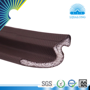 Coated sealing strip with foam shapes for wood door
