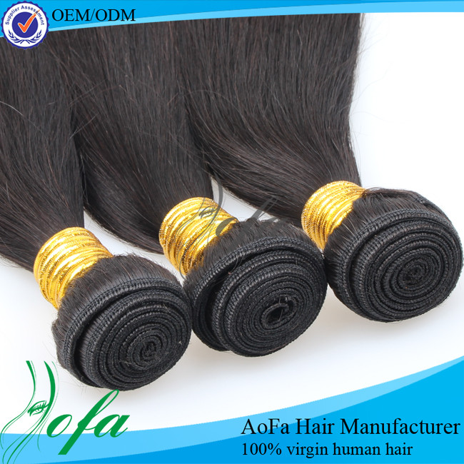 4oz virgin hair 3 bundle straight brazillian hair in 1 100%indian remy hair weaving