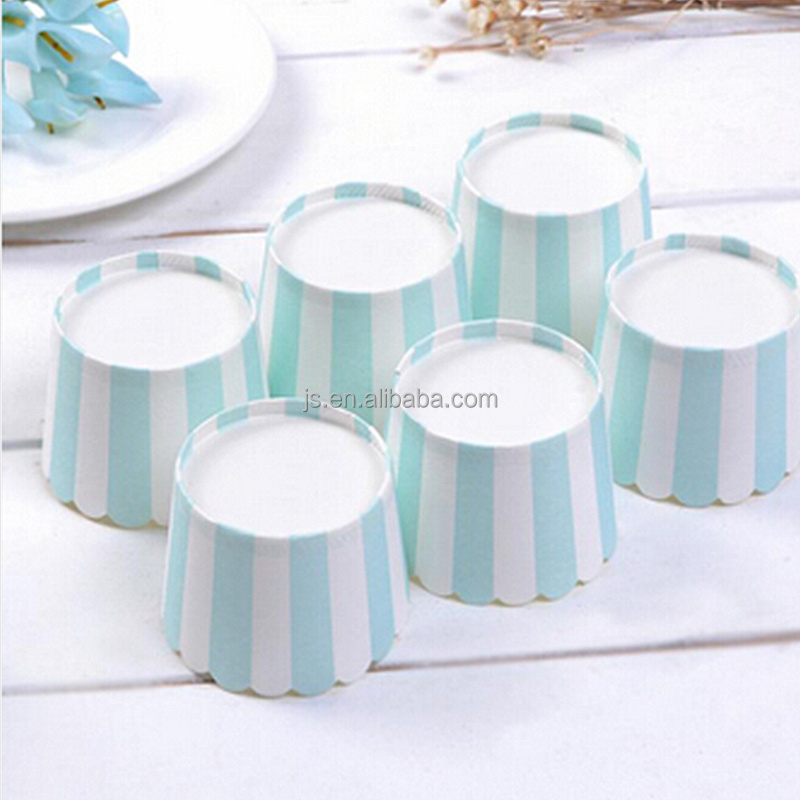 Blue stripe cupcake liner paper baking cup muffin case wrapper,cake tool party base