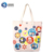 Customized Colorful Eco Friendly Tote Folding Non Woven Reusable Canvas Shopping Bag