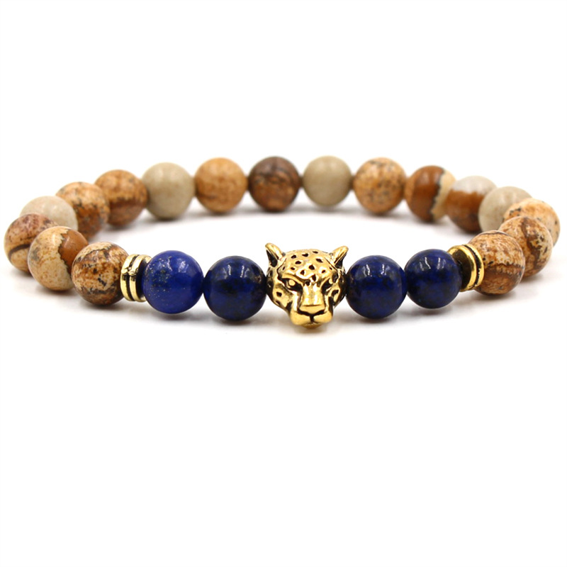 Best Quality AB Grade Brown Tiger Eye Beads Bracelet with Stainless Steel Spacer Natural Stone Buddha Head Charm