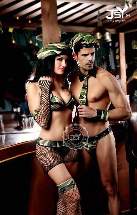 Sexy army couple costume-1126