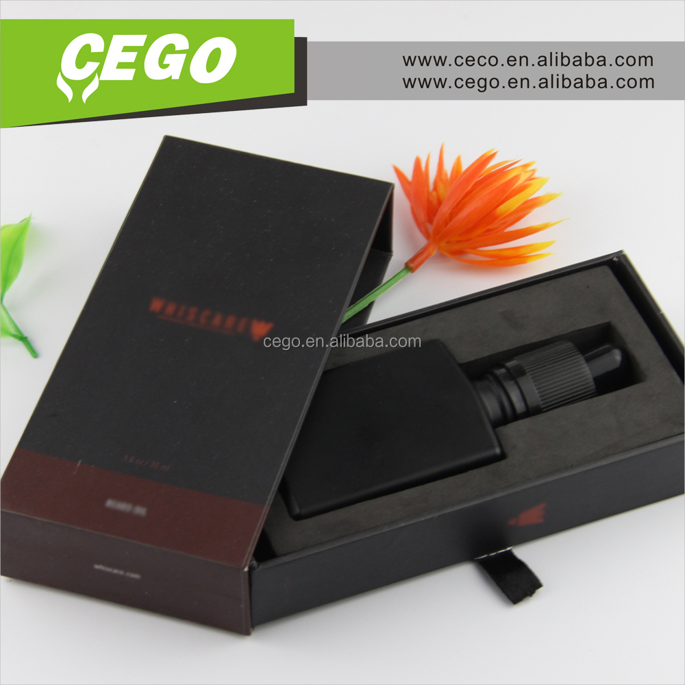 New design OEM Gift packaging 30ml square glass dropper bottle cosmetics 30ml eliquid package box