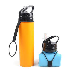 bpa free customized compressible folding black color water bottles new