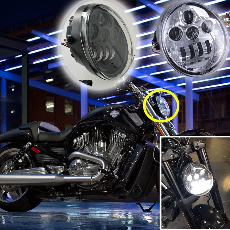 black chrome motorcycle headlight for 2017 v rod muscle. Black Bedroom Furniture Sets. Home Design Ideas