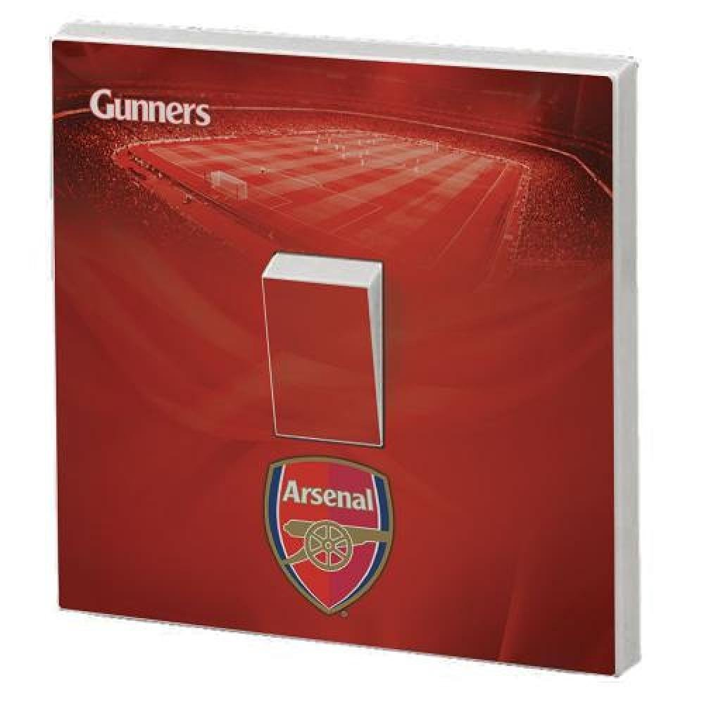 Football Gifts - Arsenal Fc Gift Ideas - Official Arsenal Fc Light Switch Skin - A Great Present For Football Fans