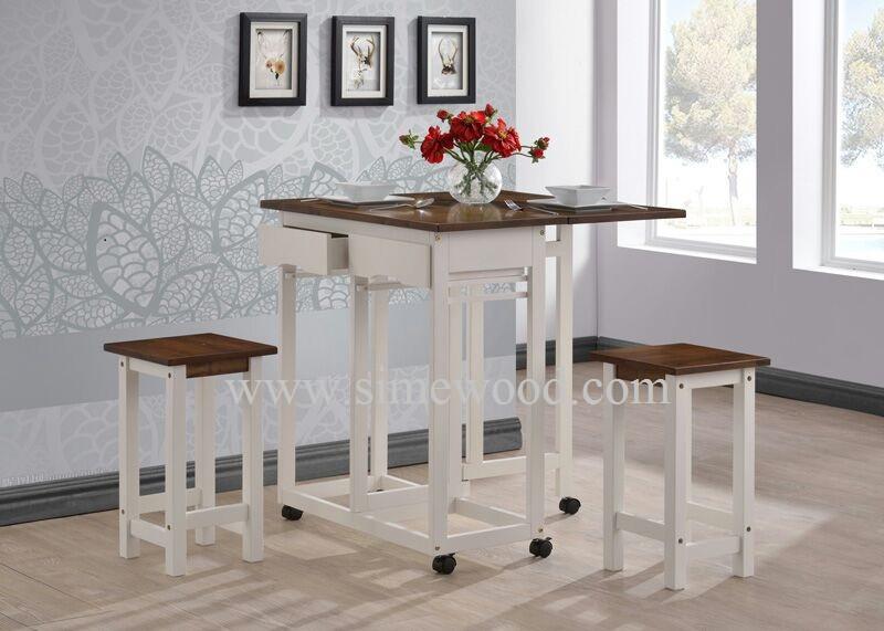 Solidwood colazione tabella tavolino con sgabelli tavolo