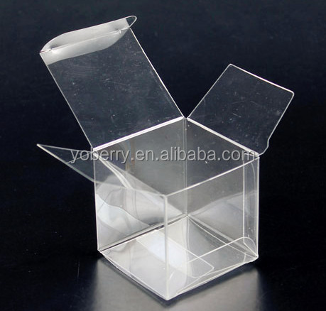 Good quality printing gift box packaging clear plastic cube box