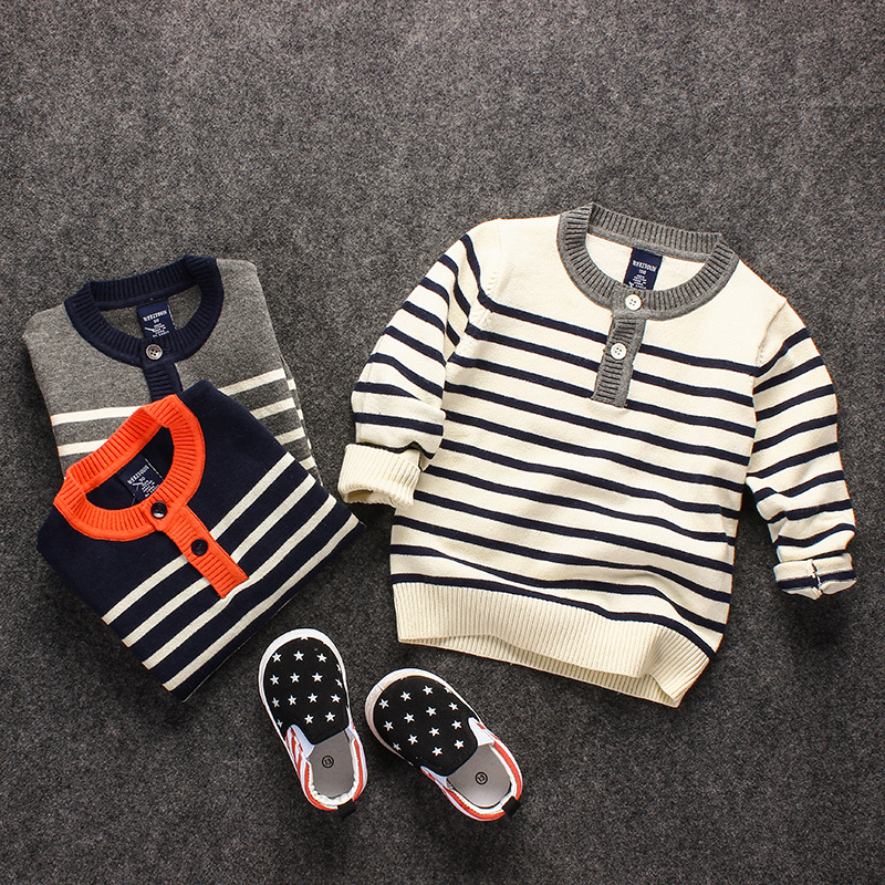 S14625A Korean Fashion Kid's Sweater Crew Neck Baby Cashmere Sweater