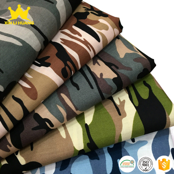 Wholesale High Quality Various Style 100% Cotton Camo Printed Poplin Fabric