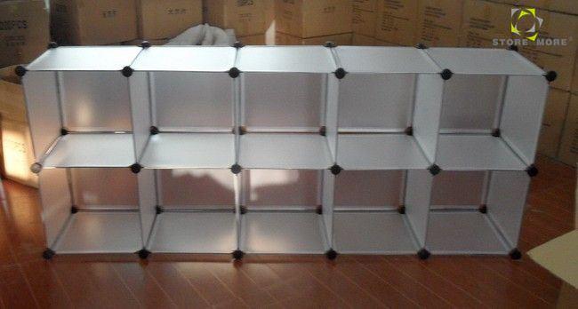 China Wholesales Square Mesh Cube Plastic Storage Rack