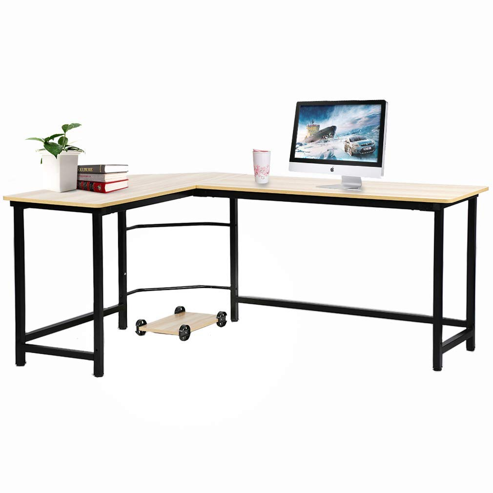 Office Desk Computer Desk L-Shsaped Desk Gaming Desk Corner Desk Writing Desk for Small Space