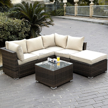 6pc Patio Sectional Furniture Pe Wicker Rattan Sofa Set Deck Couch