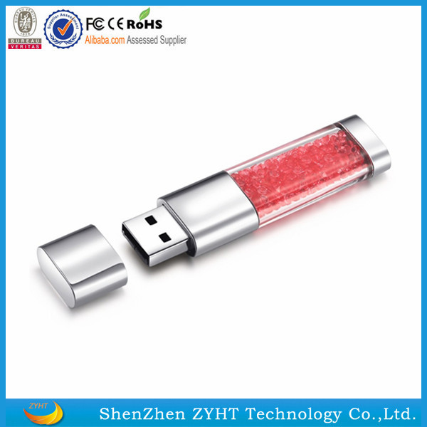 shenzhen free shipping hot selling Christmas gift crystal diamond 2gb usb flash drive full capacity pendrive