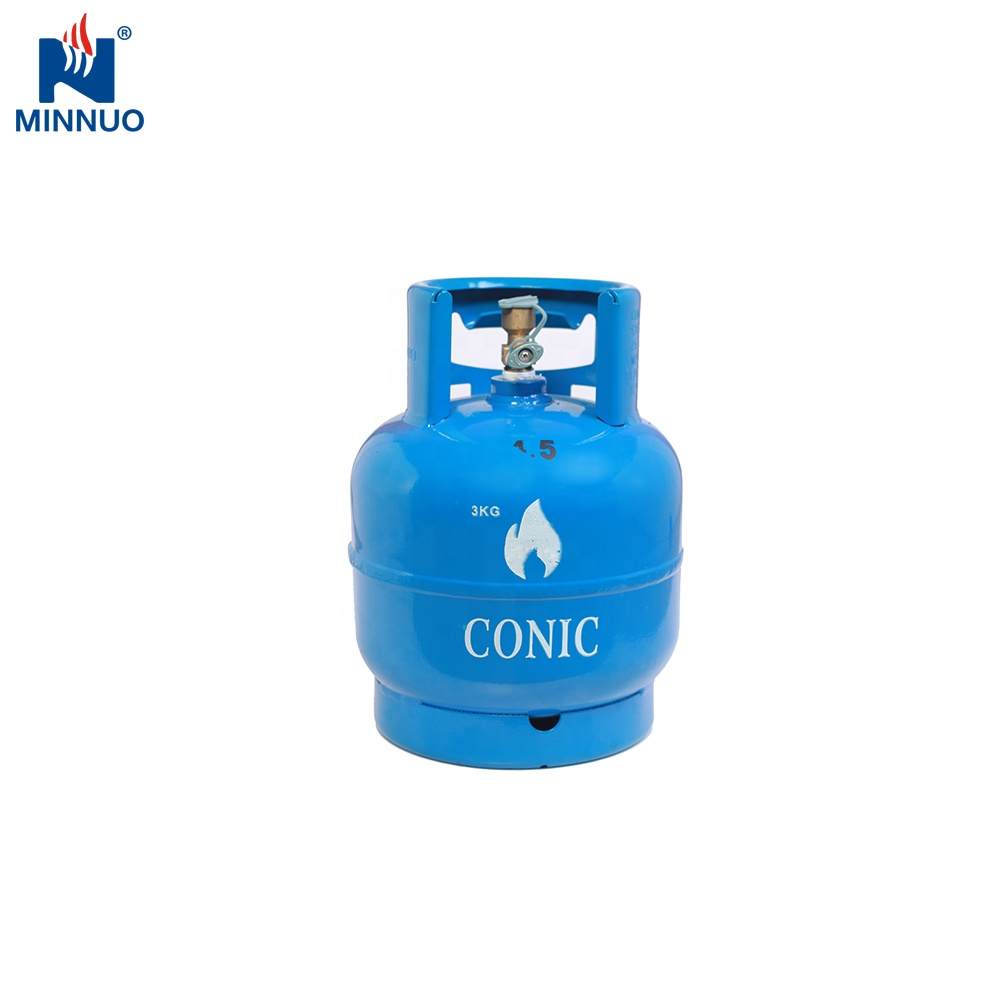 Factory wholesale portable 3KG lpg gas cylinder price with regulator