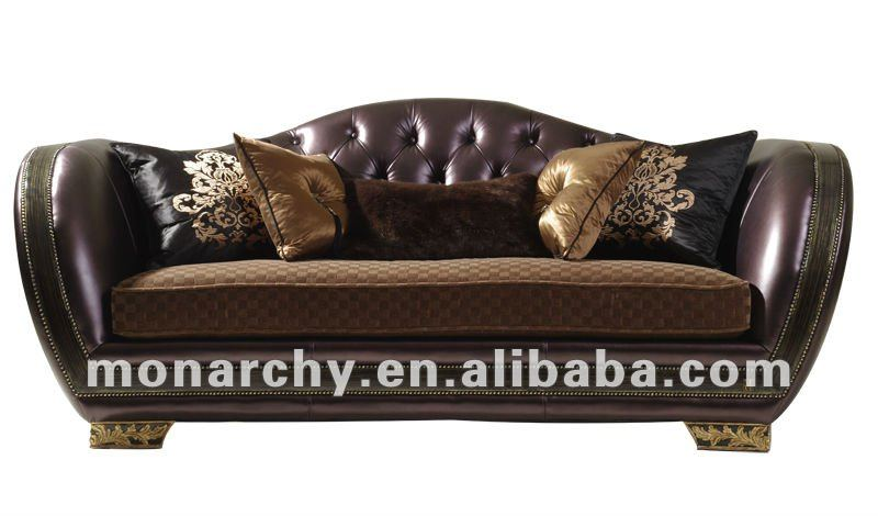 V603 3 Monarchy Wood Carving Sofa Designs