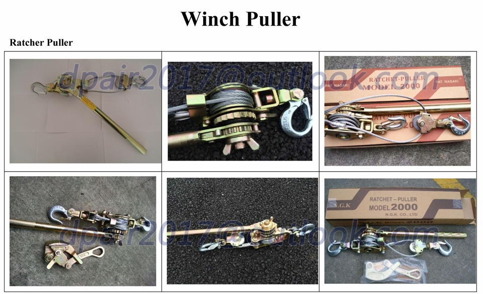 Ratchet Cable Puller Hand Wire Rope Puller - Buy Ratchet Cable ...