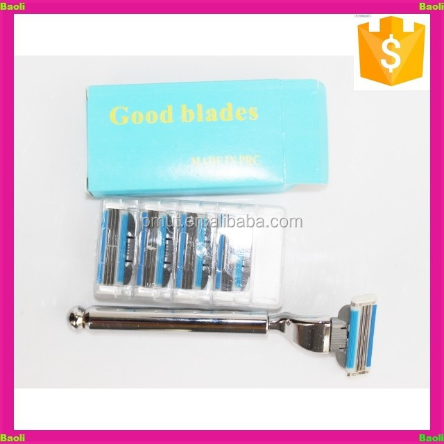 Small quantity available metal handle removable shaving blade razor