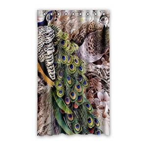 "Custom Peacock Blackout Panel Curtain Polyester 50""x84"" 1 Panel"