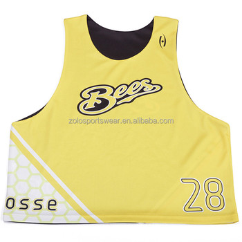 Cheap Adult Sublimation Lacrosse Reversible Jerseys