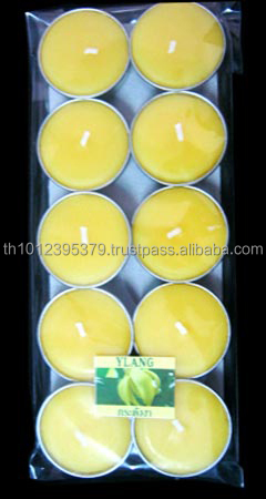 Scented tealight candles from Thailand (Ylang)