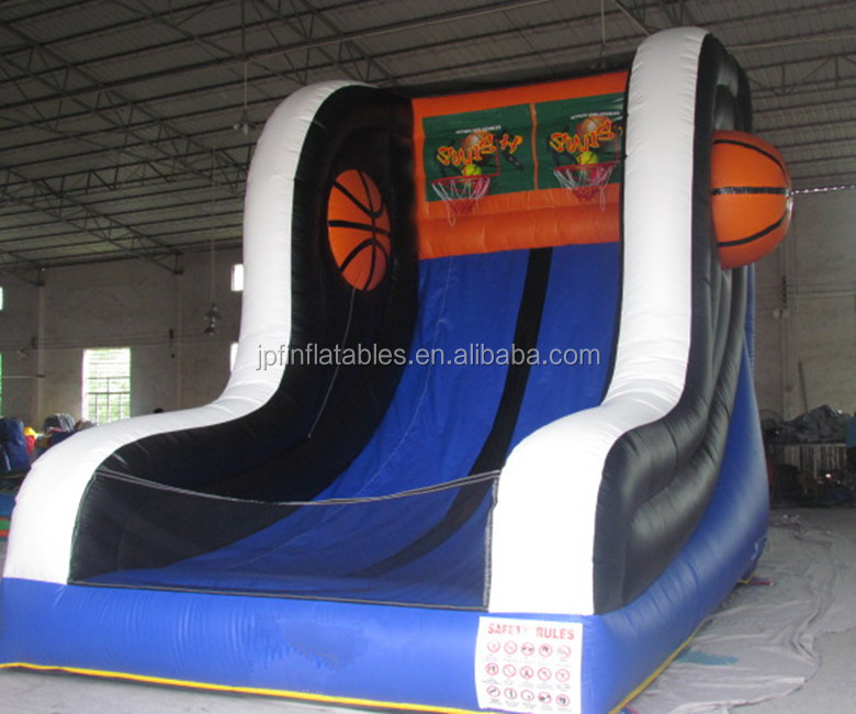 Inflatable basketball court,inflatable basketball hoop,steel hoop